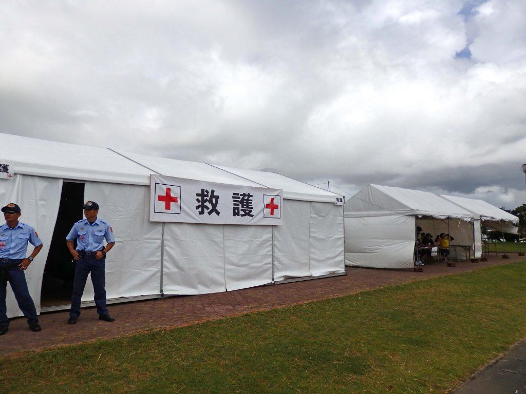 救護テントーうたの日コンサート
