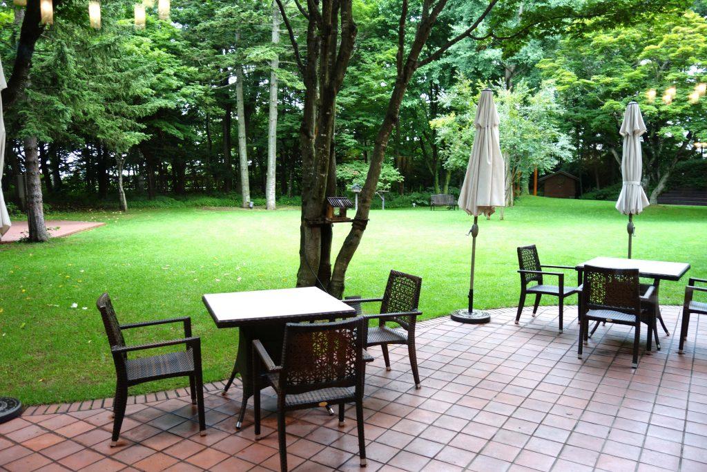 北海道ホテル 中庭