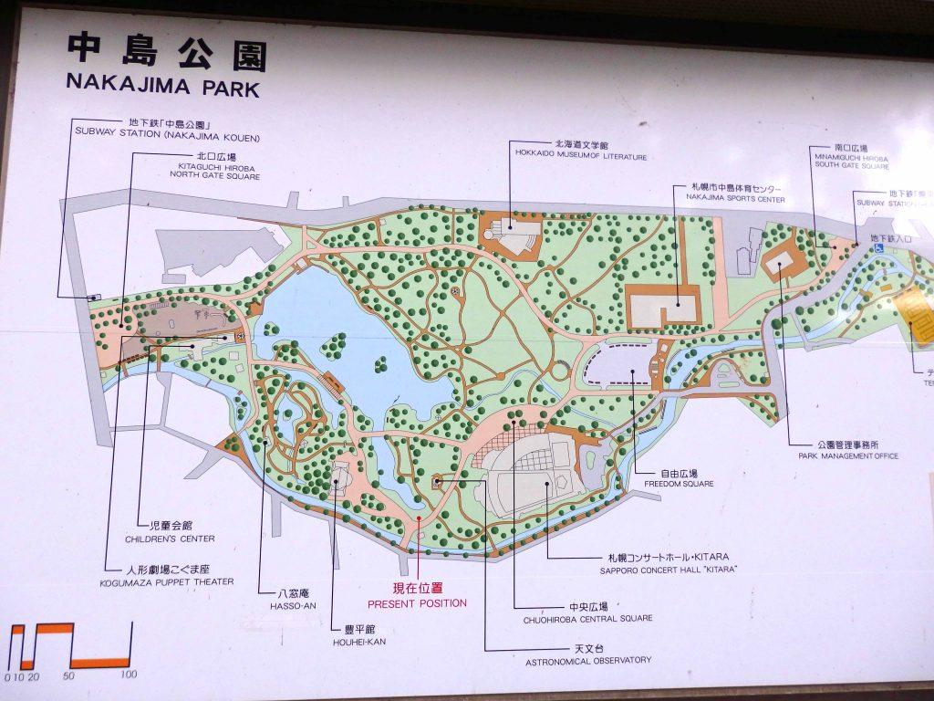 中島公園の案内図