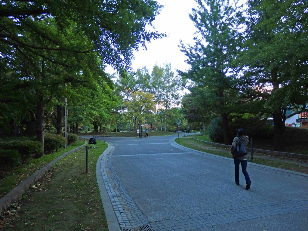 中島公園内の遊歩道