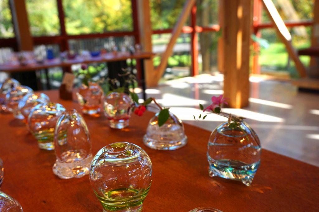 ギャラリーガラスの森展 「一輪挿し」