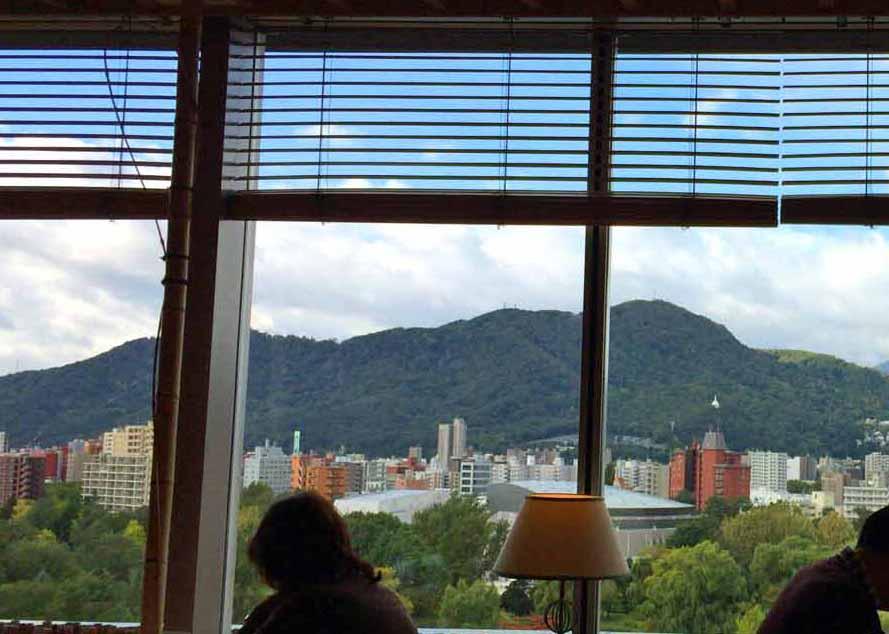11階から藻岩山方面を望む