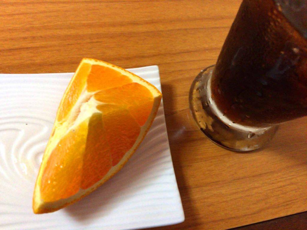 デザートのオレンジ