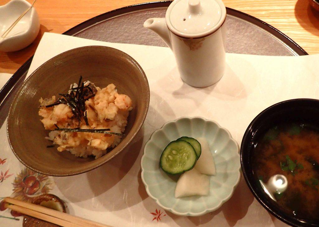 天ぷら茶漬け・椀・香の物
