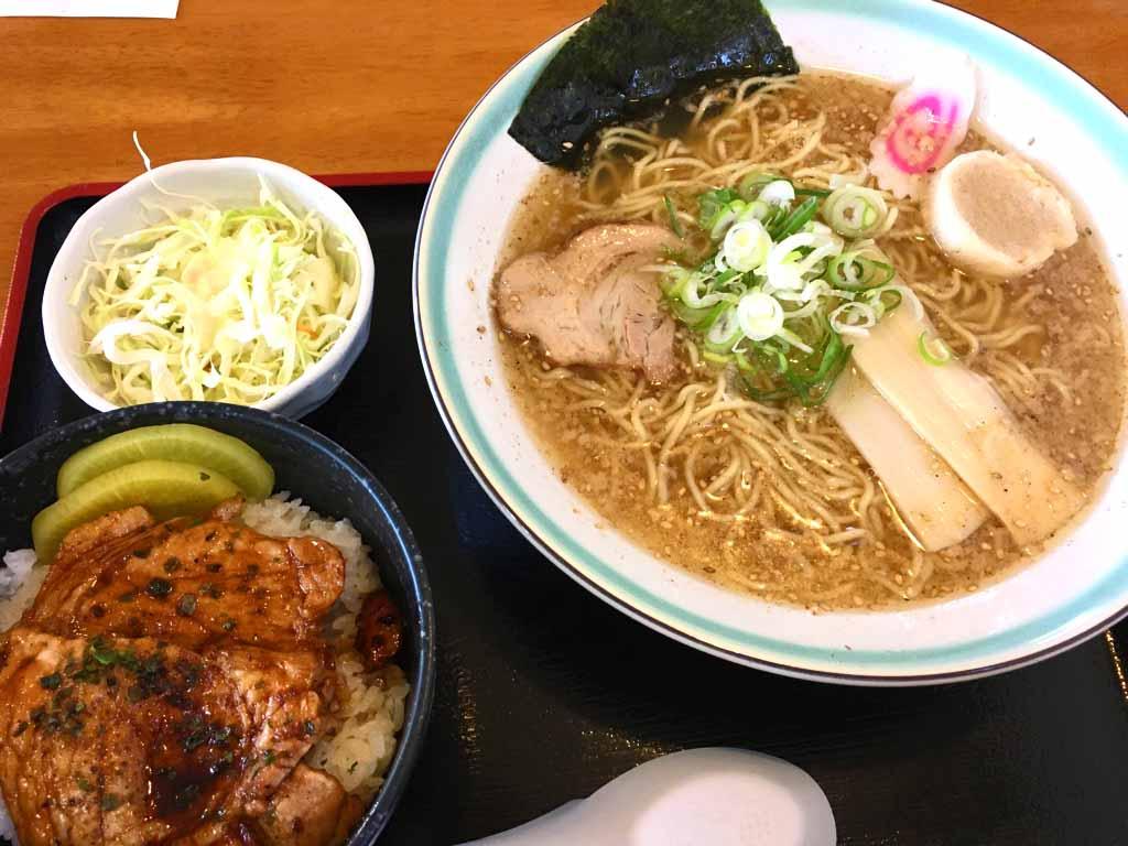 ミニ豚丼・ラーメンセット・塩