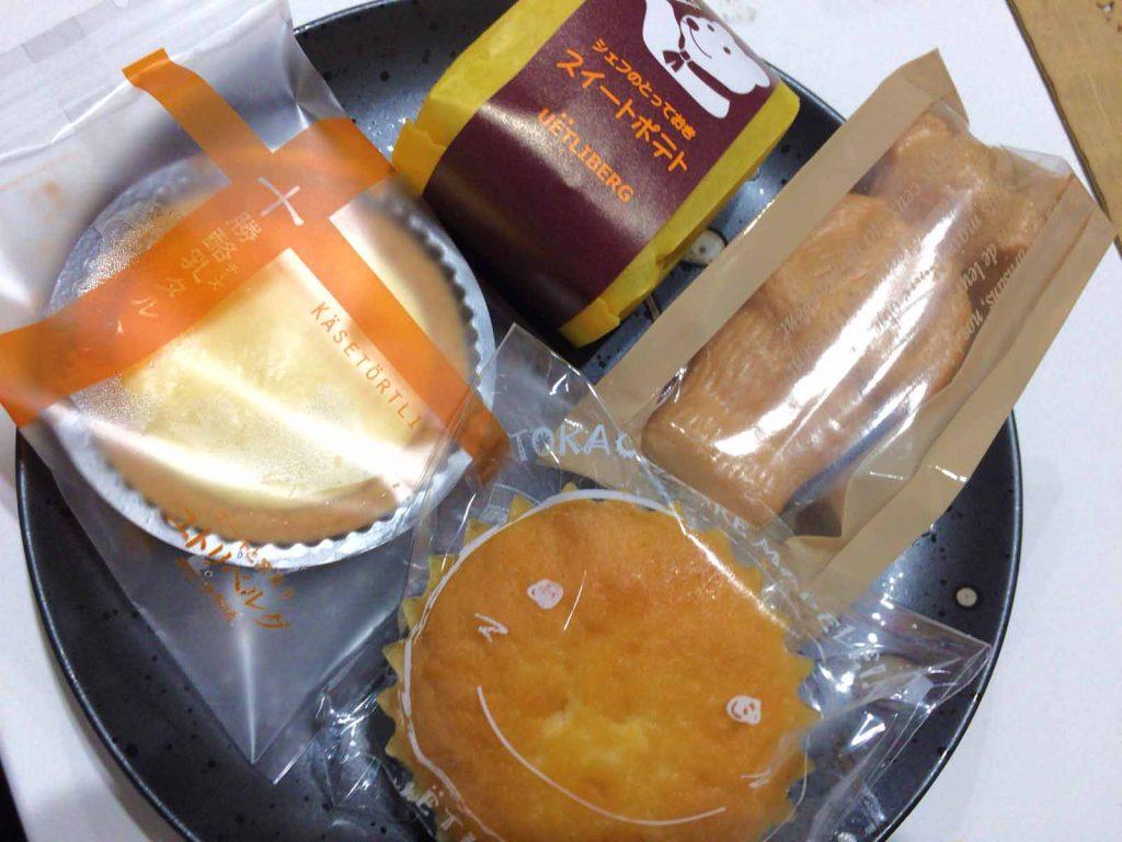 4種類のお菓子