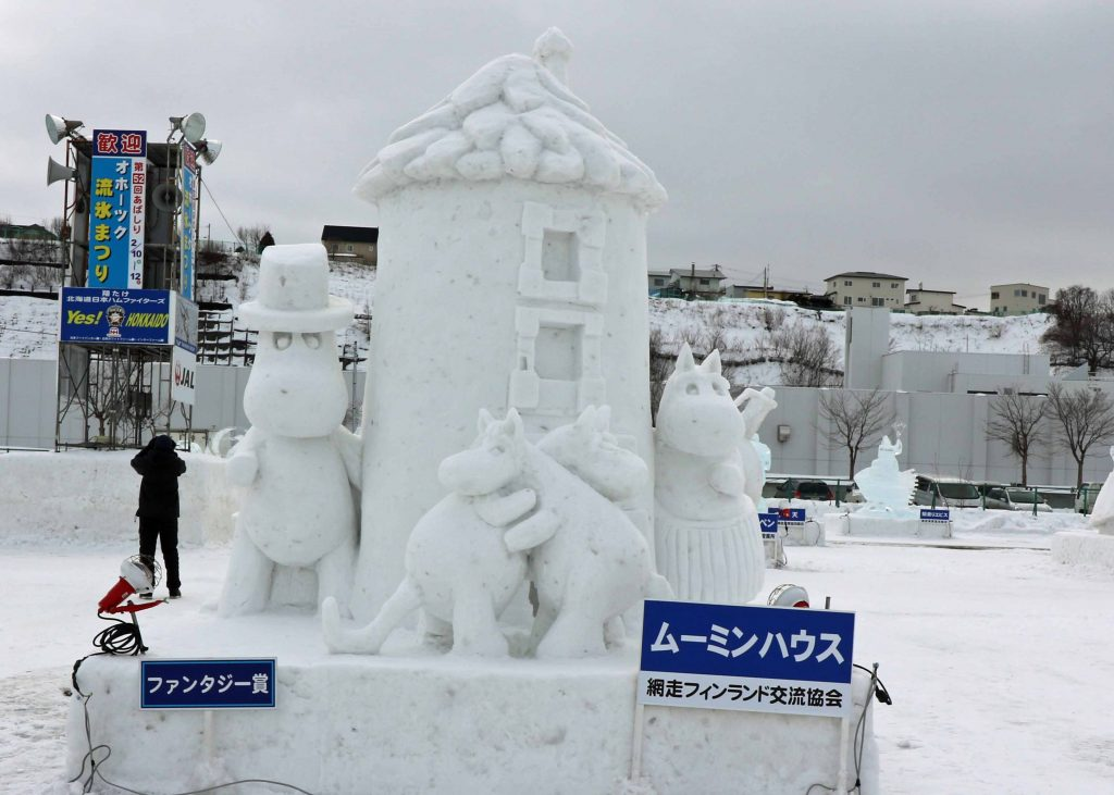 雪像:ムーミンハウス