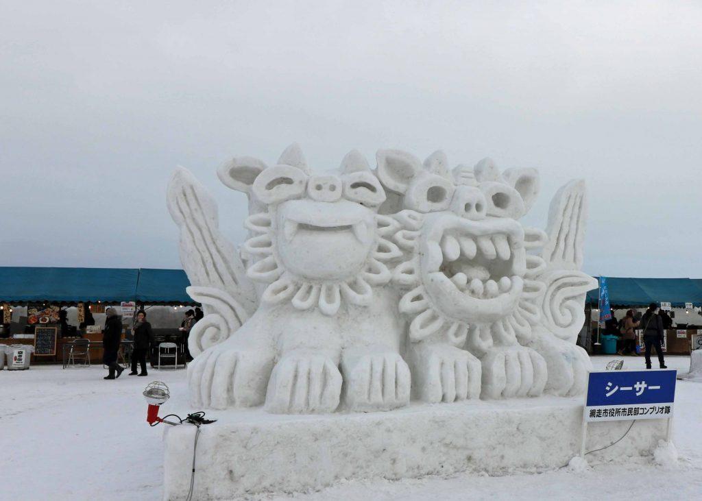 雪像:シーサー