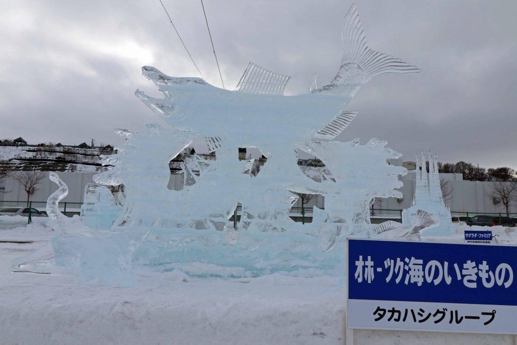 氷像:オホーツク海の生き物