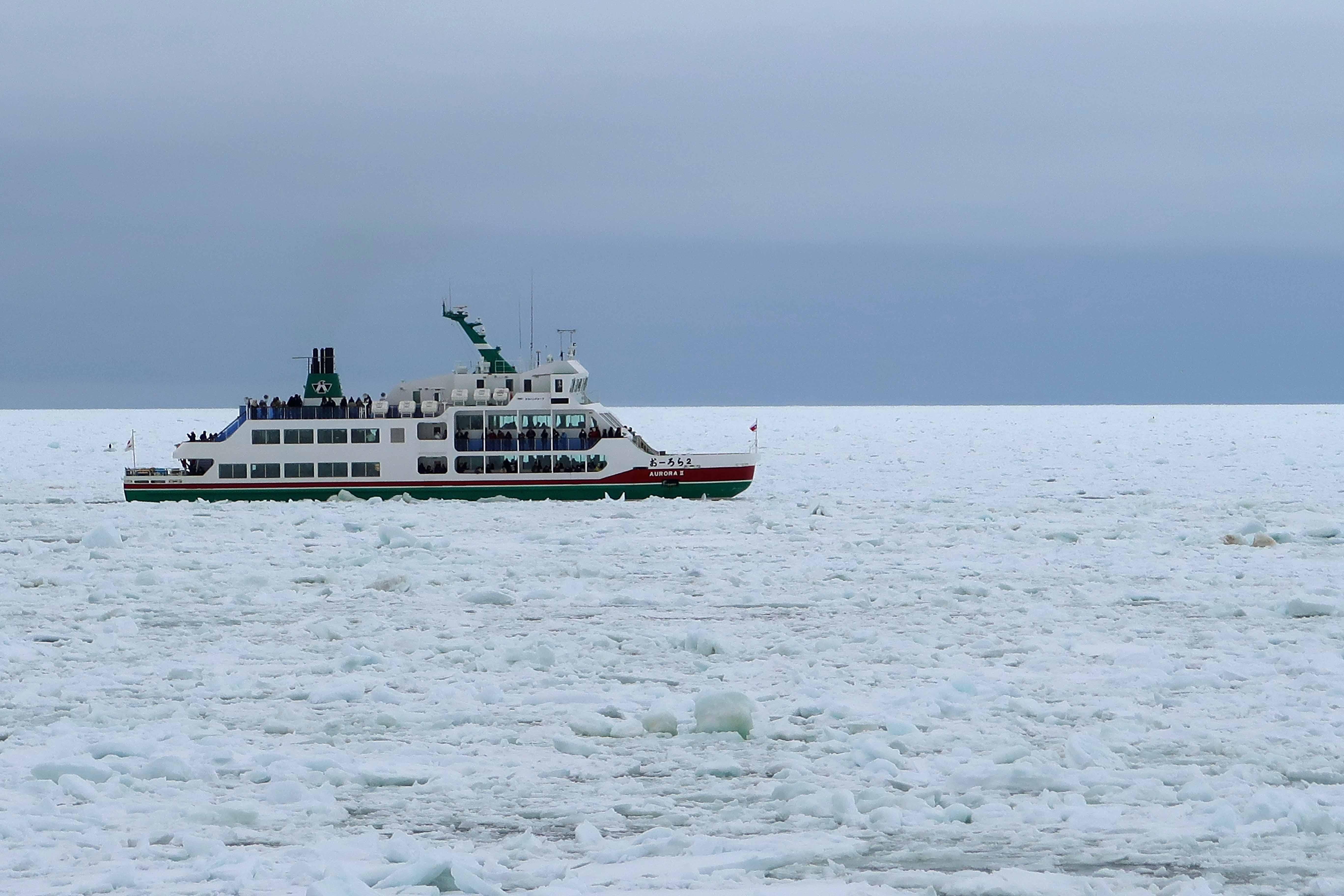 オーロラⅡ号と流氷