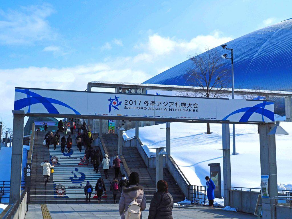 札幌ドームの階段